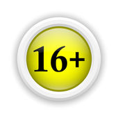 16 plus icon — Stock Photo