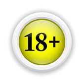 18 plus icon — Stock Photo