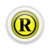 注册的标记图标 — 图库照片