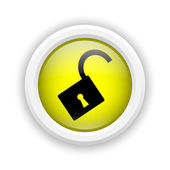 Open lock icon — Stock Photo