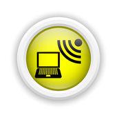 Ikonę bezprzewodowego laptopa — Zdjęcie stockowe