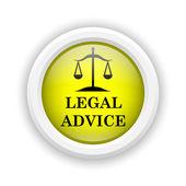 Icône de conseils juridiques — Photo