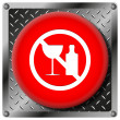 No alcohol icon — Stock Photo
