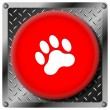 Paw print icon — Stock Photo #38689355