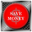 Stock Photo: Save money icon
