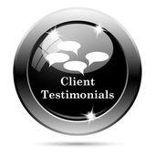 ícone de testemunhos do cliente — Foto Stock