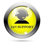 24-7 支持图标 — 图库照片