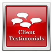 Client testimonials icon — Stock Photo