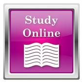 Studie online-symbol — Stockfoto