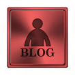 Stock Photo: Blog icon