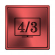 Stock Photo: 4 3 TV icon