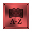 Stock Photo: A-Z book icon