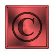 Stock Photo: Copyright icon