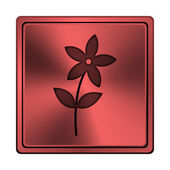 Bloem pictogram — Stockfoto