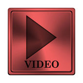 Icona di riproduzione video — Foto Stock