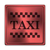 Ikona taksówką — Zdjęcie stockowe