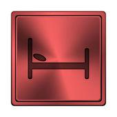 Hotel ikona — Zdjęcie stockowe