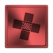 Medizinische patch-symbol — Stockfoto