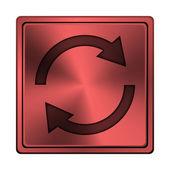 Znovu načíst dvě šipky ikona — Stock fotografie