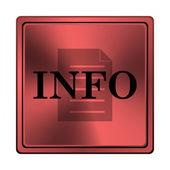 Ikona informacji — Zdjęcie stockowe