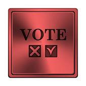 Głosowanie ikona — Zdjęcie stockowe