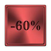 60 procent zniżki ikona — Zdjęcie stockowe