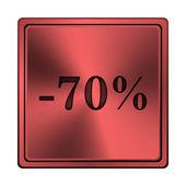 Ikona 70 procent zniżki — Zdjęcie stockowe