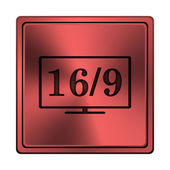 16 9 TV icon — Stock Photo