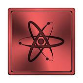 Atomen pictogram — Stockfoto