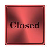 Ikona zamkniętej — Zdjęcie stockowe