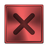 X sluiten pictogram — Stockfoto