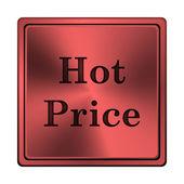 ícone quente preço — Foto Stock