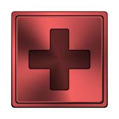 Medical cross icon — Stock Photo