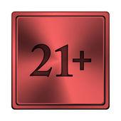 21 plus icon — Stock Photo