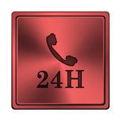 Icône de téléphone 24h — Photo