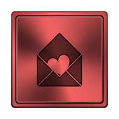 Enviar amor ícone — Foto Stock