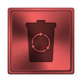 Recycle bin icon — Stock Photo