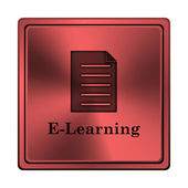Icona di elearning — Foto Stock