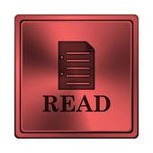 Pictogram voor gelezen — Stockfoto