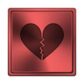 Gebroken hart pictogram — Stockfoto