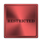 Restricted icon — Stock fotografie