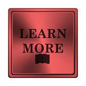 Aprender mais ícone — Foto Stock