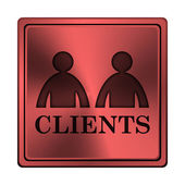 Clients icon — Stock Photo