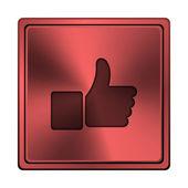 Kciuk w górę ikonę — Zdjęcie stockowe