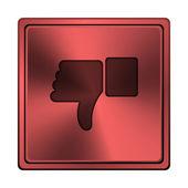 Thumb down icon — Stock Photo