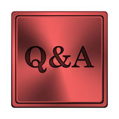 Q&A icon — Stock fotografie