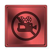 Zakázané video kamera ikona — Stock fotografie