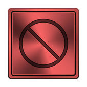 Icona proibita — Foto Stock