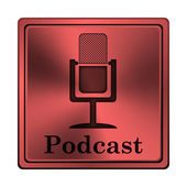 Icona podcast — Foto Stock