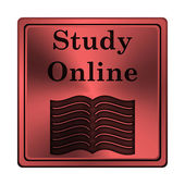 Study online icon — Stock Photo